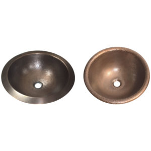 Hammered Antique Copper Bowl Sink - Coppersmith Creations
