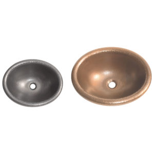 Rounded Edge Round Hammered Copper Sink - Coppersmith Creations