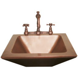 Rectangular Double wall Copper Sink - Coppersmith Creations