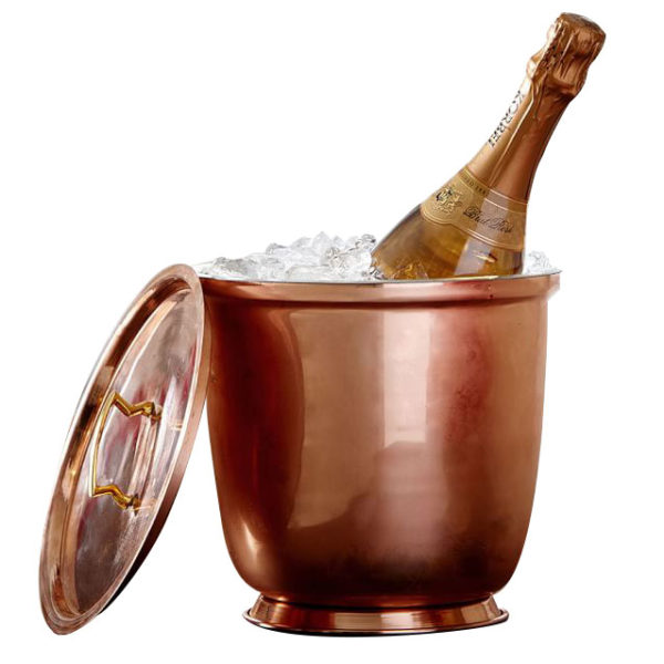 Copper Lidded Ice Bucket - Coppersmith Creations