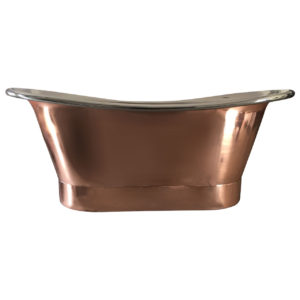 Copper Bathtub Nickle Inside Shiny Copper Outside