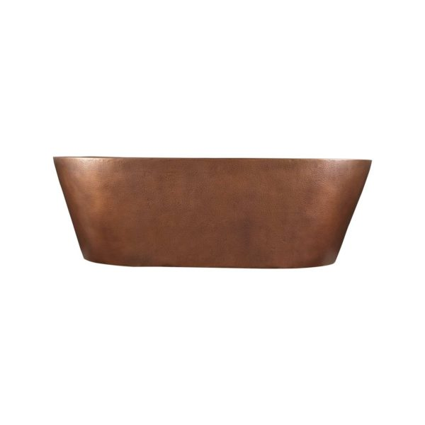 Hammered Double Wall Copper Bathtub - Coppersmith Creations