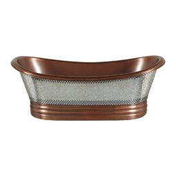Glass Mosaic Copper Bathtub