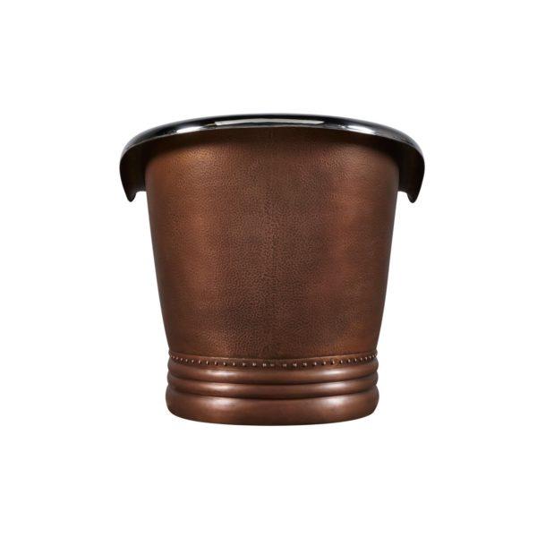 Nickel Interior Copper Bathtub - Coppersmith Creations