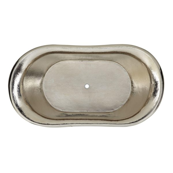 Hammered Double Slipper Nickel Interior Copper Tub