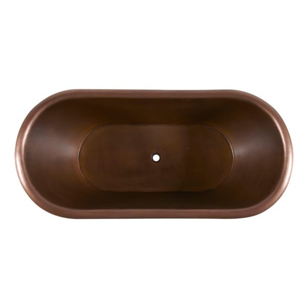 Smooth Double Slipper Copper Bathtub - Coppersmith Creations