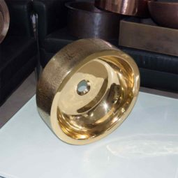 Brass Sink Pattern Exterior Double Wall Design - Coppersmith Creations
