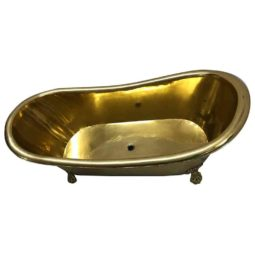 Clawfoot Brass Bathtub - Coppersmith Creations