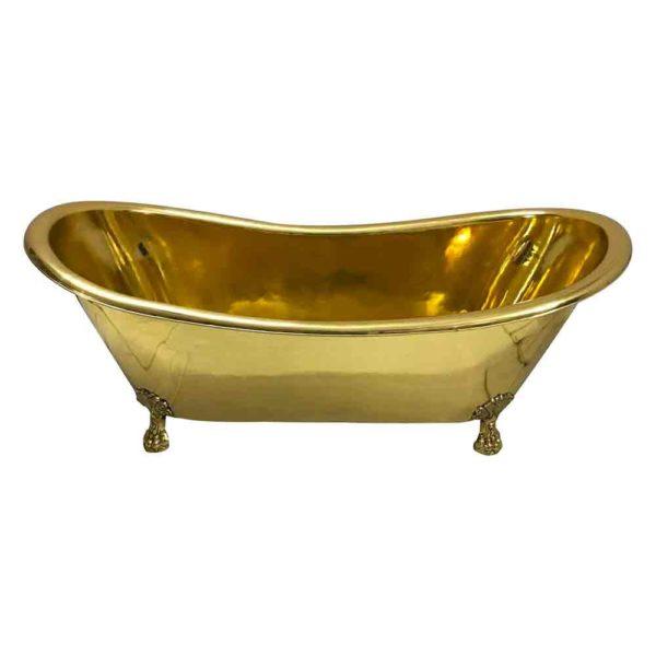 Clawfoot Brass Bathtub - Coppersmith Creations
