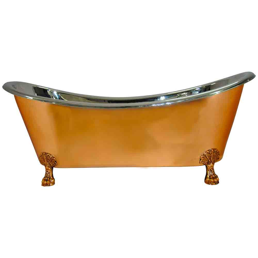 Bath Creations: Copper Clawfoot Bathtub Nickel Inside