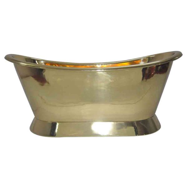 Pedestal Brass Bathtub - Coppersmith Creations