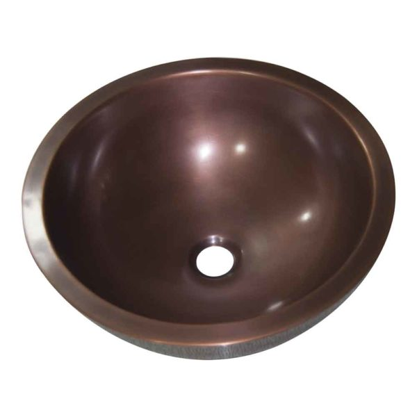 Rice Hammered Copper Sink - Coppersmith Creations