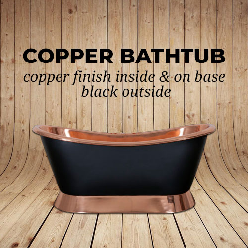 Copper Bathtub Black Outside