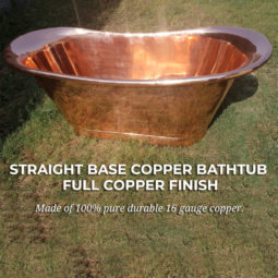 Straight Base Copper Bathtub Full Copper