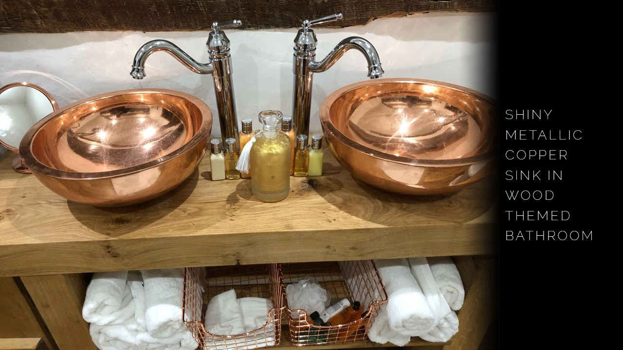 Round Double Wall Copper Sink