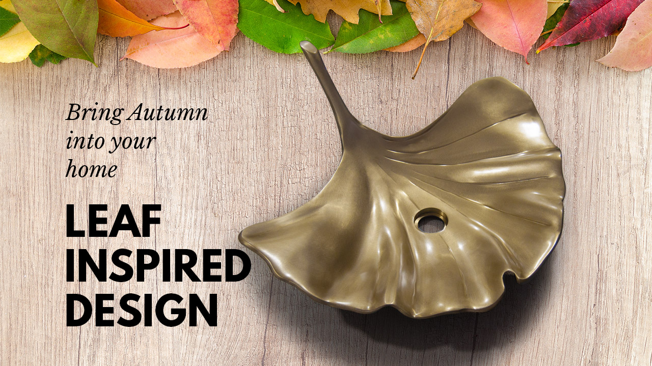 Cast Bronze Sink Leaf Design