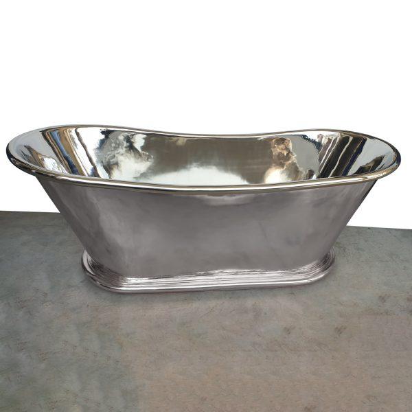 Copper Bathtub Nickel Finish Inside & Outside